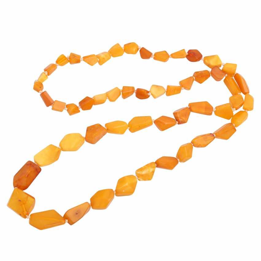 Set of 2 amber beads, - photo 3