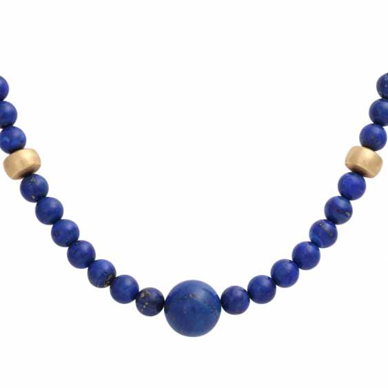 Necklace, lapis lazuli spheres approx. 8 mm, - photo 2