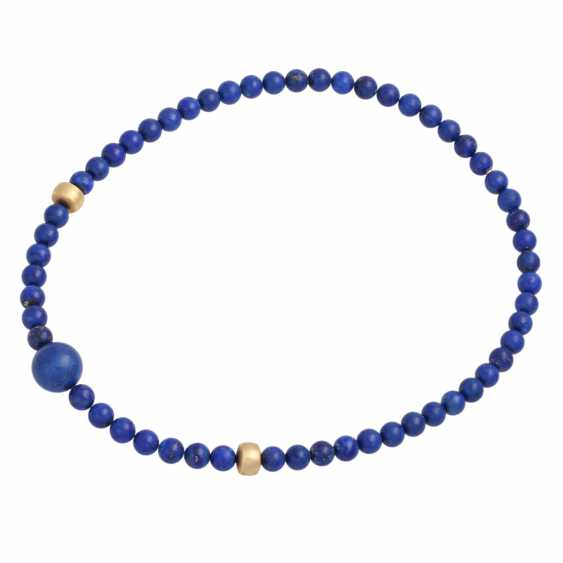 Necklace, lapis lazuli spheres approx. 8 mm, - photo 3