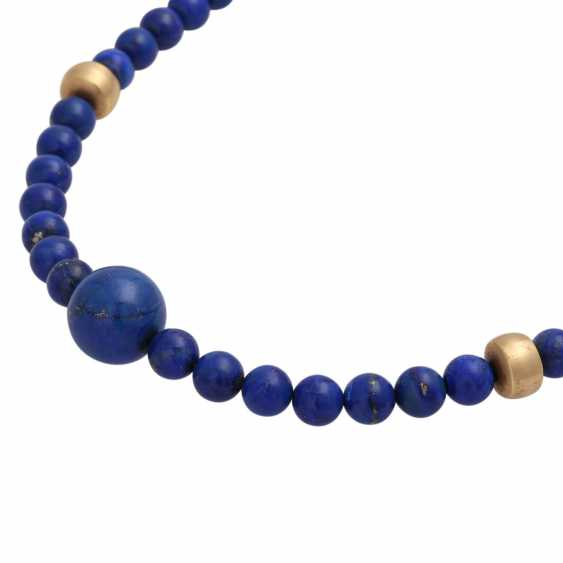 Necklace, lapis lazuli spheres approx. 8 mm, - photo 4