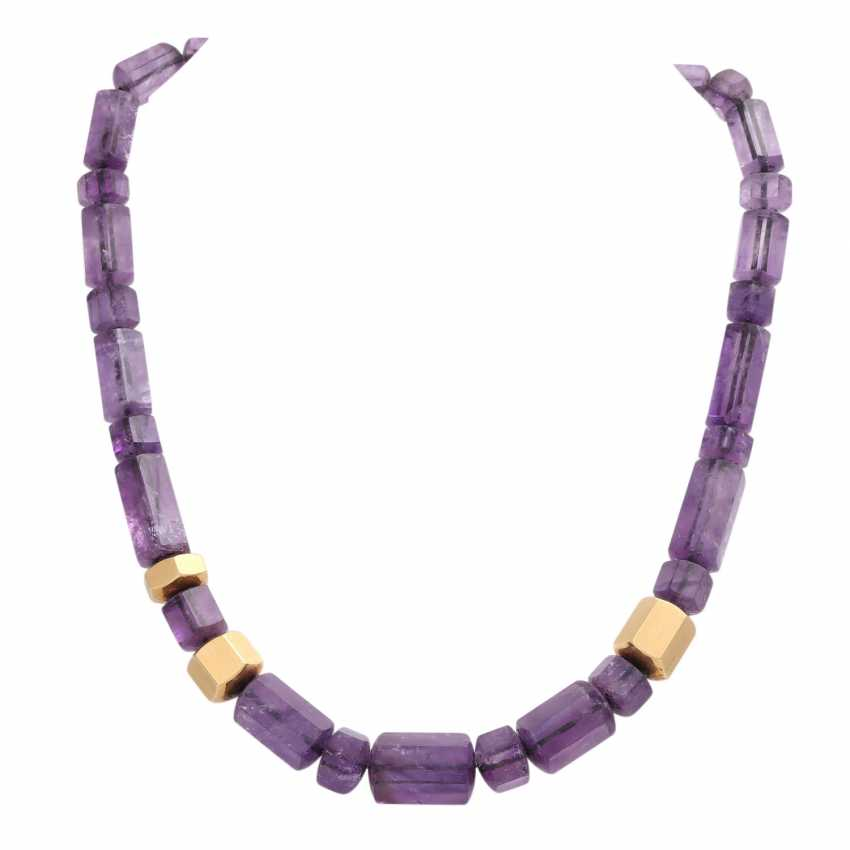 JACOBI amethyst necklace made of 6-sided prisms, in the course of - photo 1