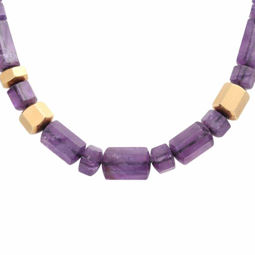 JACOBI amethyst necklace made of 6-sided prisms, in the course of - photo 2