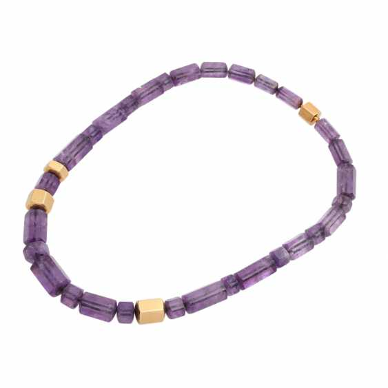 JACOBI amethyst necklace made of 6-sided prisms, in the course of - photo 3