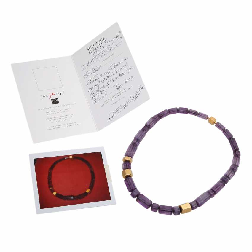 JACOBI amethyst necklace made of 6-sided prisms, in the course of - photo 5
