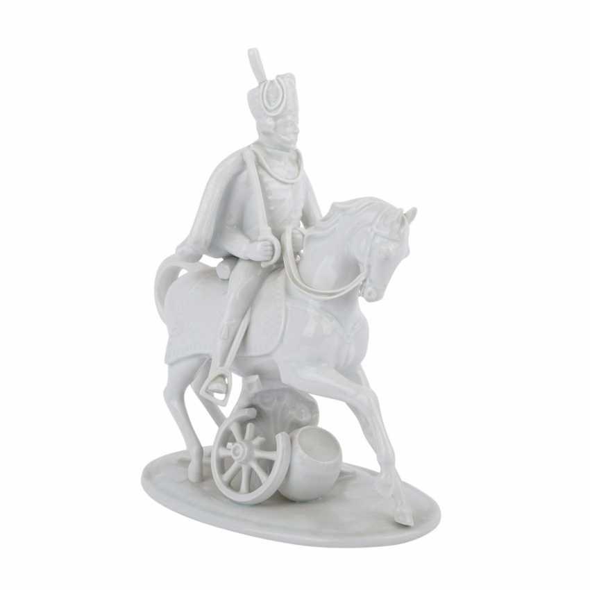 LUDWIGSBURG 'hussar on horseback', 20. Century. - photo 1