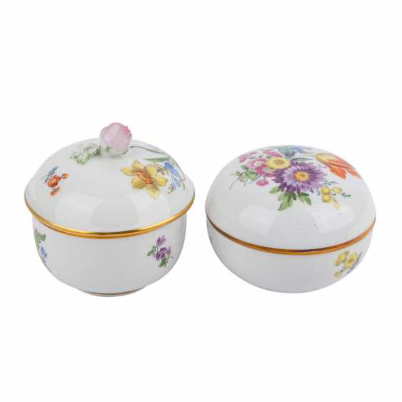 MEISSEN Pair of lid cans, 20. Century - photo 1