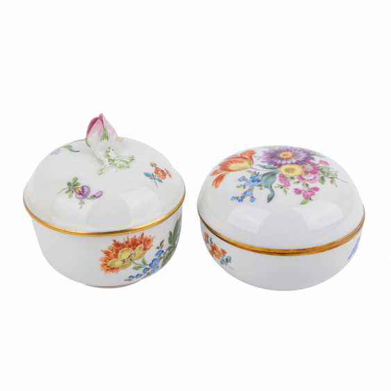 MEISSEN Pair of lid cans, 20. Century - photo 2