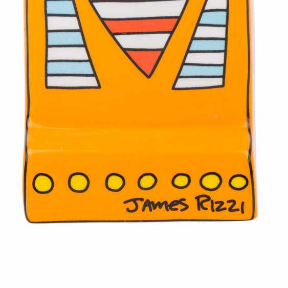 """JAMES RIZZI for GOEBEL table clock """"A Great Time in My City"""", 20. Century - photo 6"""