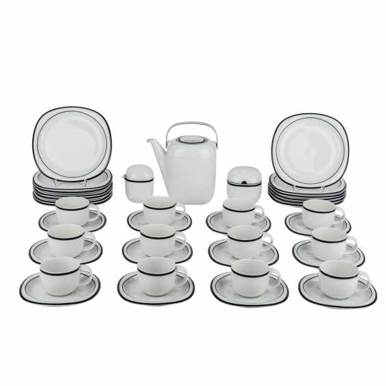 """ROSENTHAL """"SUOMI ANTHRACITE"""" extensive coffee service for 12 persons, 20. Century - photo 1"""