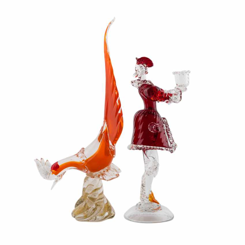 MURANO, TWO GLASS SCULPTURES - photo 2