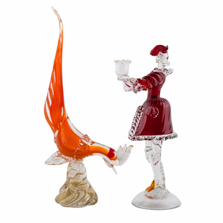 MURANO, TWO GLASS SCULPTURES - photo 4