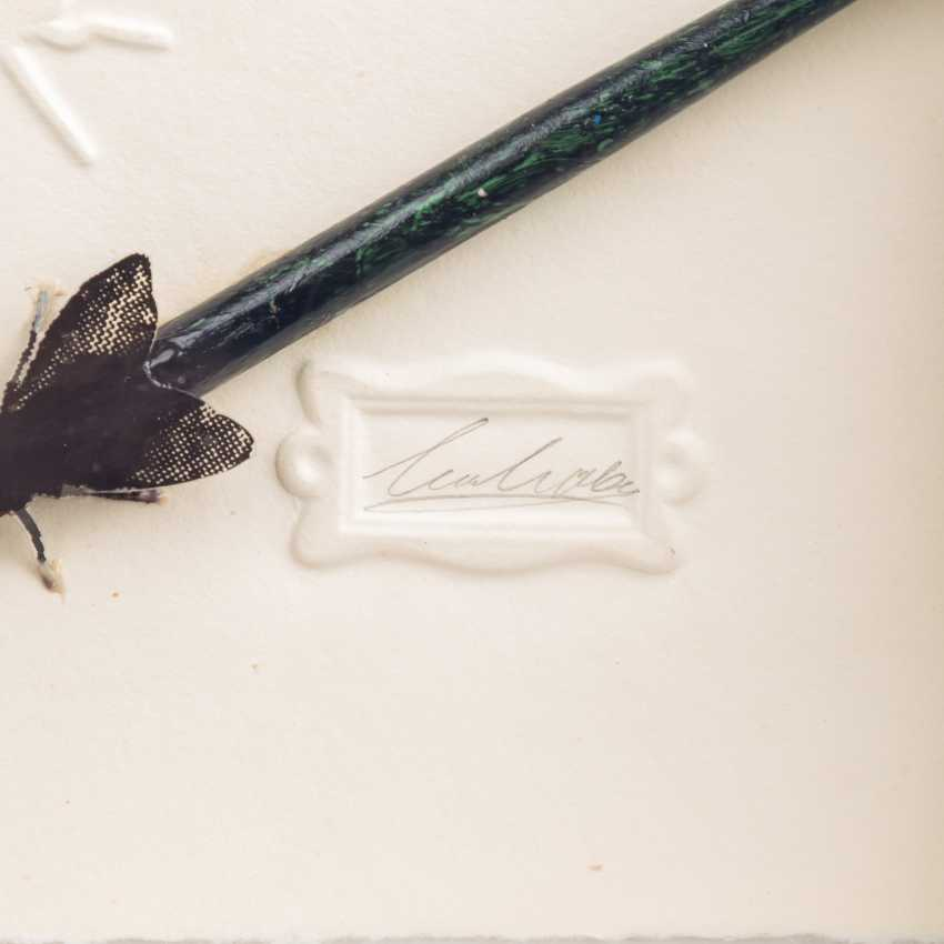 """EHEHALT, WOLFGANG (geb. 1939), """"Die gemeine Tintenfliege / auch Zwiebelfliege genannt"""", - Foto 2"""