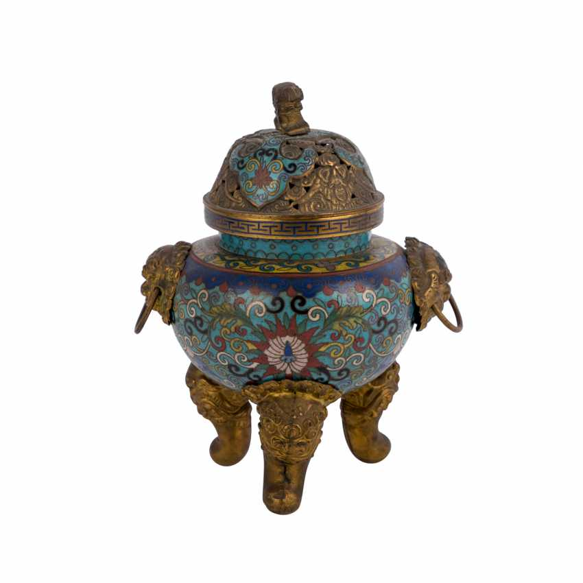 Cloisonné Incense Burner. CHINA, 19. Century. - photo 1