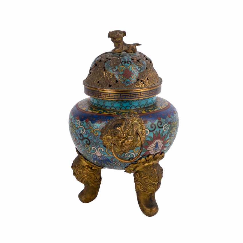Cloisonné Incense Burner. CHINA, 19. Century. - photo 2