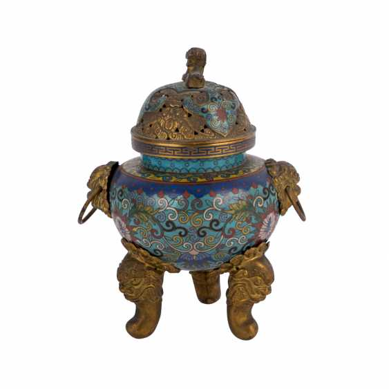 Cloisonné Incense Burner. CHINA, 19. Century. - photo 3
