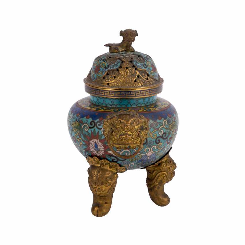 Cloisonné Incense Burner. CHINA, 19. Century. - photo 4