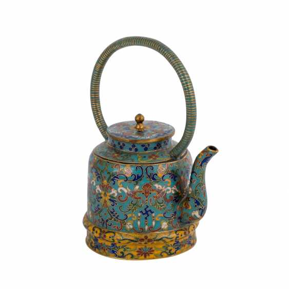 Small Cloisonné Teapot. CHINA, 19. Century - photo 1
