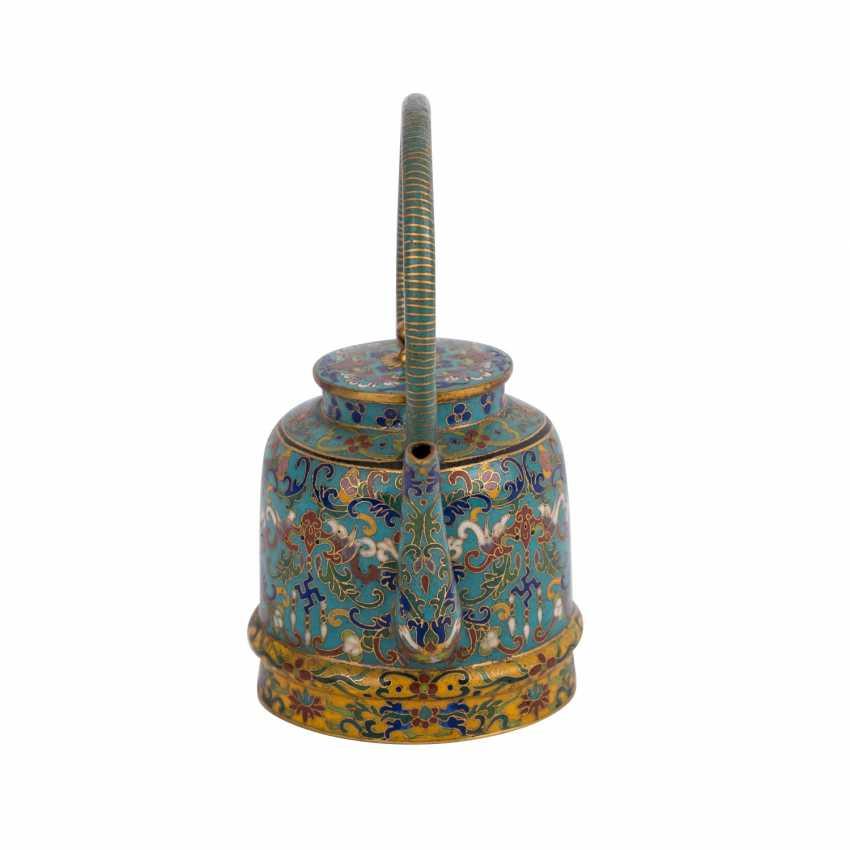 Small Cloisonné Teapot. CHINA, 19. Century - photo 2
