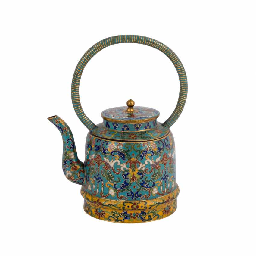 Small Cloisonné Teapot. CHINA, 19. Century - photo 3