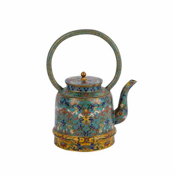 Small Cloisonné Teapot. CHINA, 19. Century - photo 5