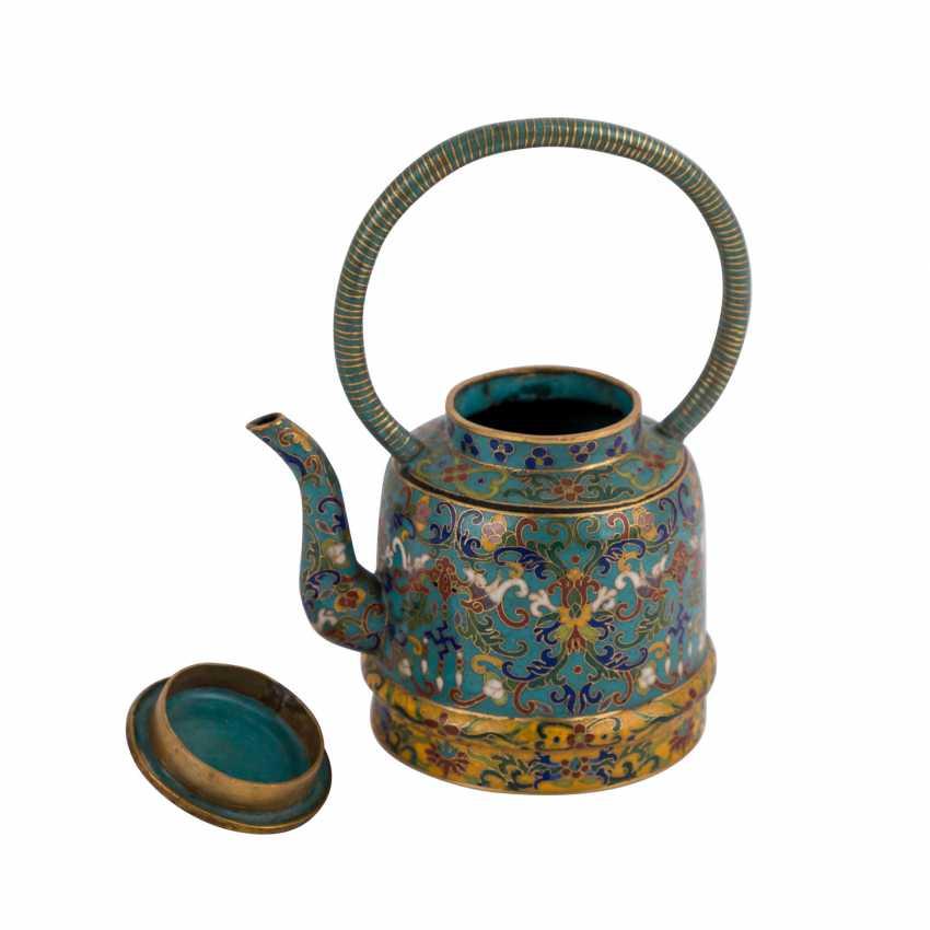 Small Cloisonné Teapot. CHINA, 19. Century - photo 6