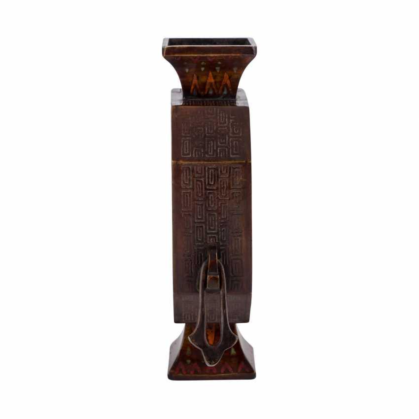 Vase made of Bronze. CHINA, 1. Half of the 20. Century. - photo 3