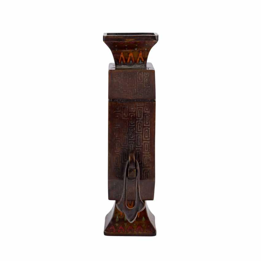 Vase made of Bronze. CHINA, 1. Half of the 20. Century. - photo 5