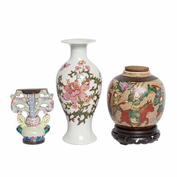 Collection of porcelain: 3 pieces, CHINA, 20. Century. - photo 1