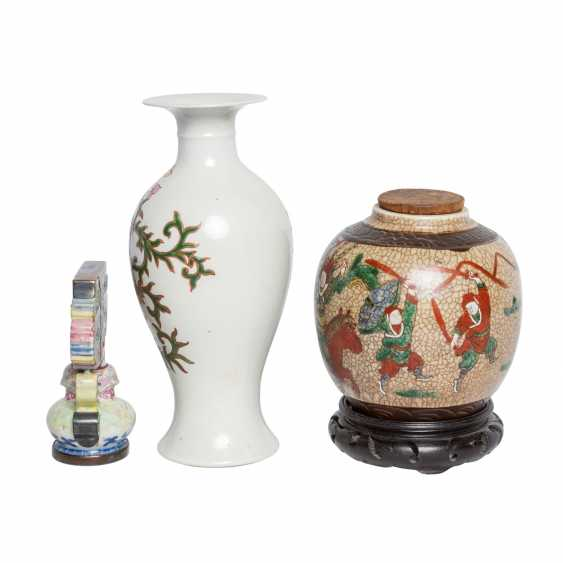 Collection of porcelain: 3 pieces, CHINA, 20. Century. - photo 2