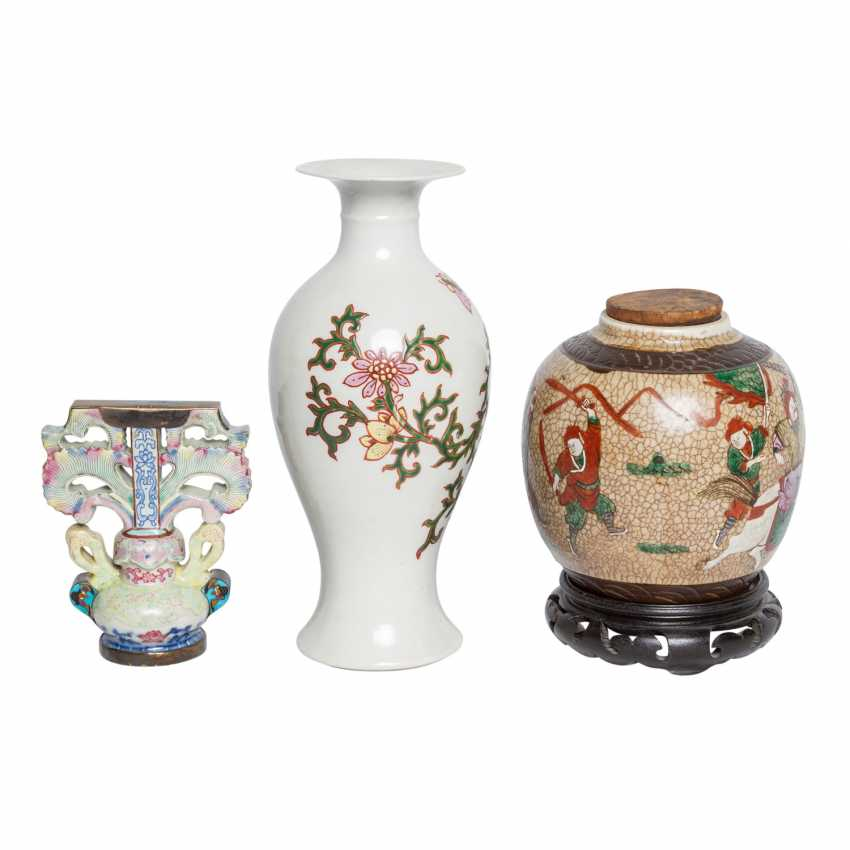 Collection of porcelain: 3 pieces, CHINA, 20. Century. - photo 3