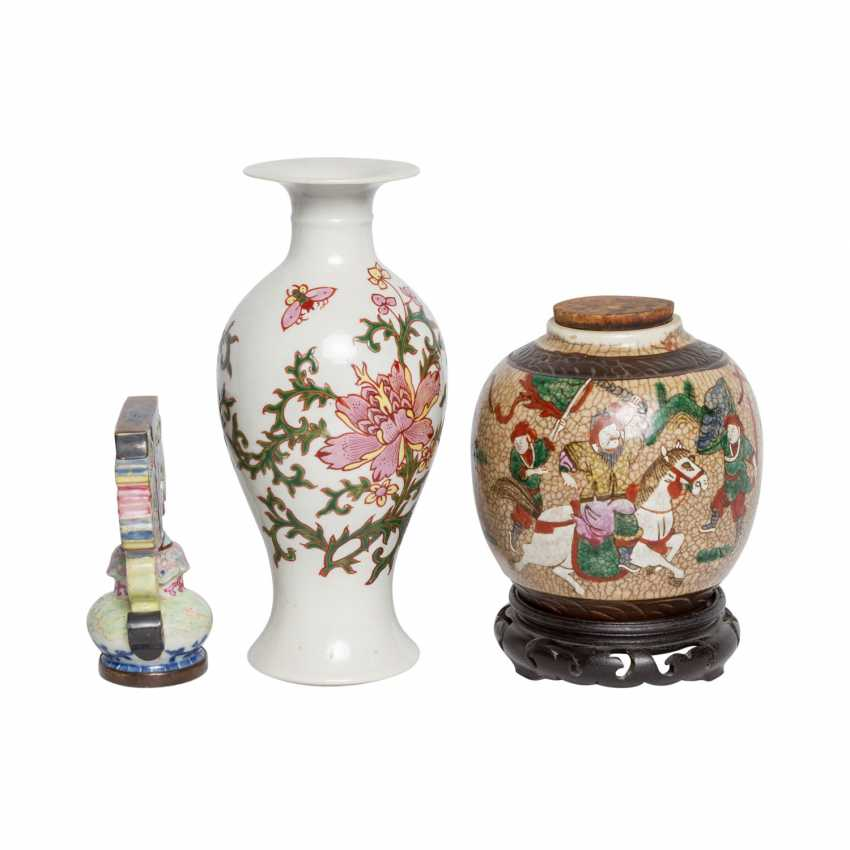 Collection of porcelain: 3 pieces, CHINA, 20. Century. - photo 4
