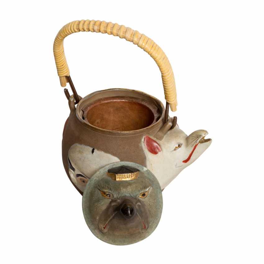 Excellent teapot with porcelain faces. JAPAN, Meiji-period (1868-1912). - photo 5