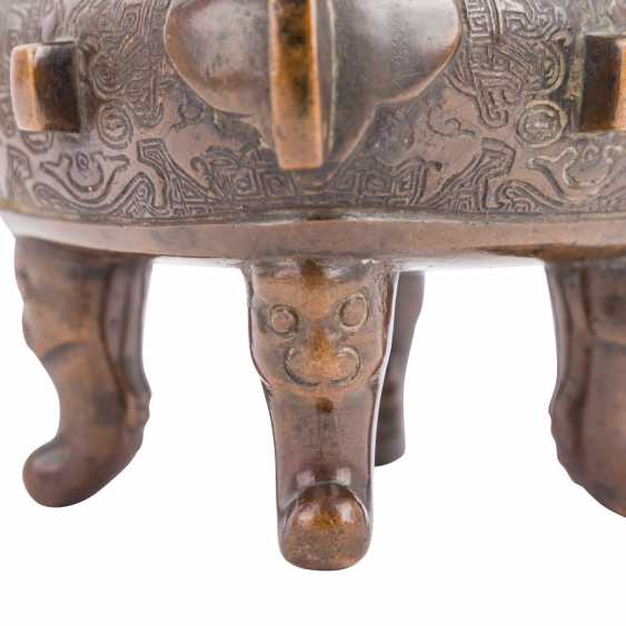 Incense burner made of Bronze. JAPAN, 19. Century - photo 4