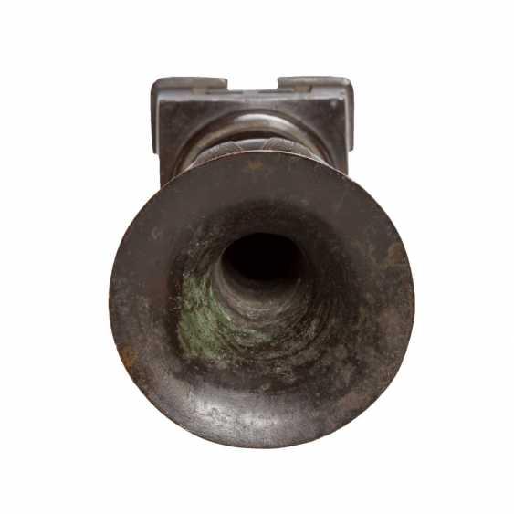 Vase on mitgegossenem Base made of Bronze. CHINA, 18./19. Century. - photo 6