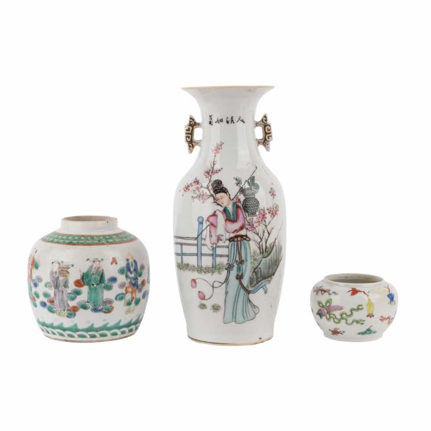 Interesting Group Of 6 Pieces Of Porcelain. CHINA, 19. and 20. Century. - photo 2