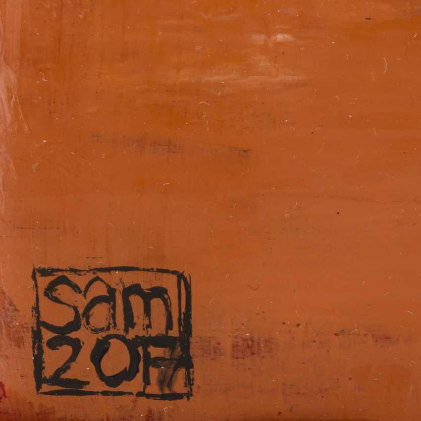 """SCHIRMER, SABINE MARIA (südd. Künstlerin 20./21. Jahrhundert), """"Sitzender Mann im Raum"""", - Foto 2"""