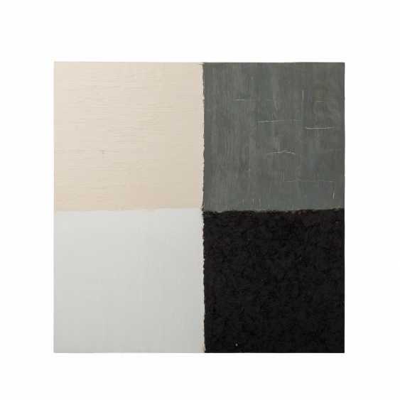 "FRIEDMANN, CHRISTEL (südd. Artist 20./21. Century), Composition, ""Four-Color Fields"", - photo 1"