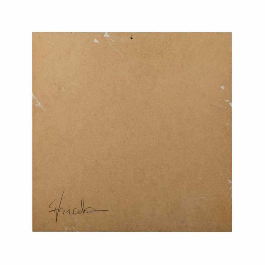 "FRIEDMANN, CHRISTEL (südd. Artist 20./21. Century), Composition, ""Four-Color Fields"", - photo 2"