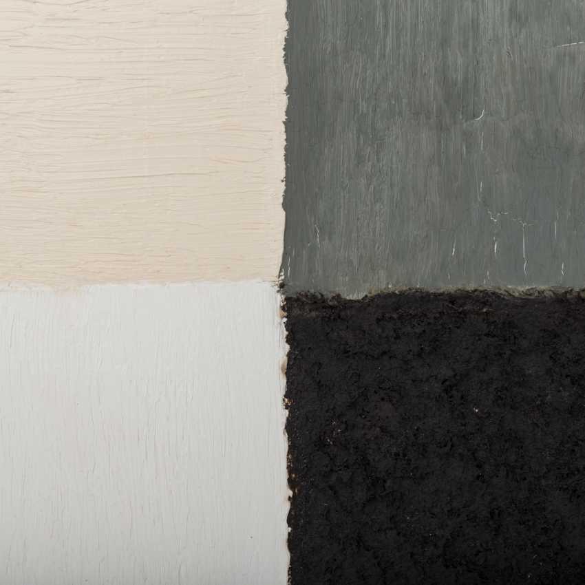 "FRIEDMANN, CHRISTEL (südd. Artist 20./21. Century), Composition, ""Four-Color Fields"", - photo 3"