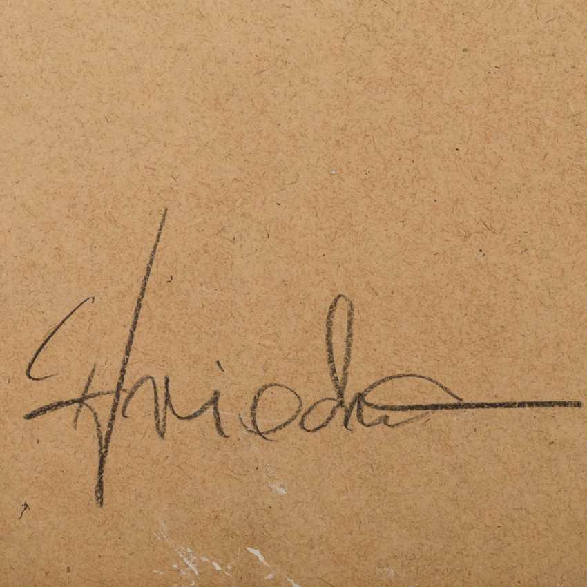 "FRIEDMANN, CHRISTEL (südd. Artist 20./21. Century), Composition, ""Four-Color Fields"", - photo 4"