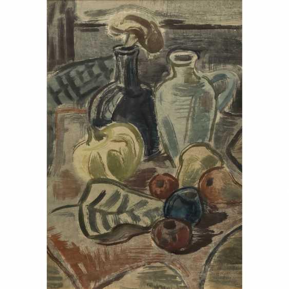 "BÖHME, GERD (1899-1978), ""still life with bottle, jug and fruit"", - photo 1"