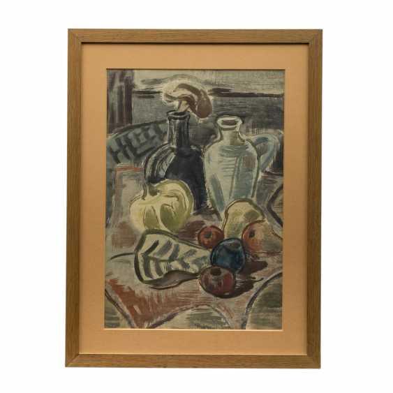 "BÖHME, GERD (1899-1978), ""still life with bottle, jug and fruit"", - photo 2"