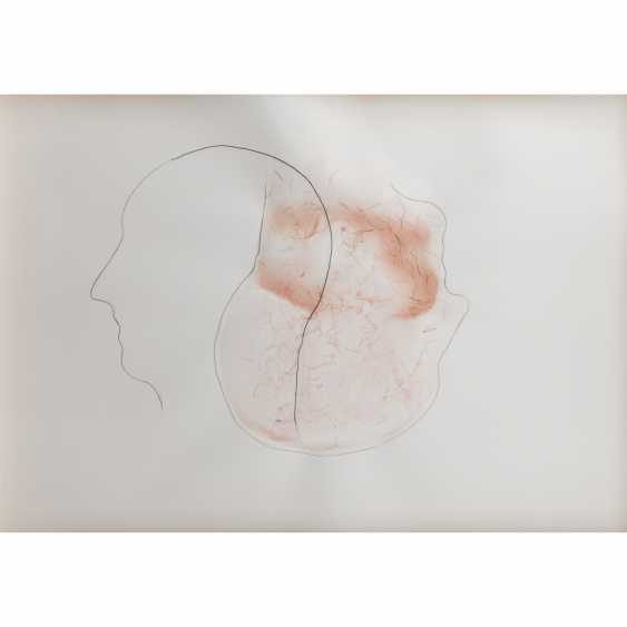 """Commander-in-chief Pointner, ALFRED (geb. In 1966, Austrian artists), """"Two heads"""", - photo 1"""