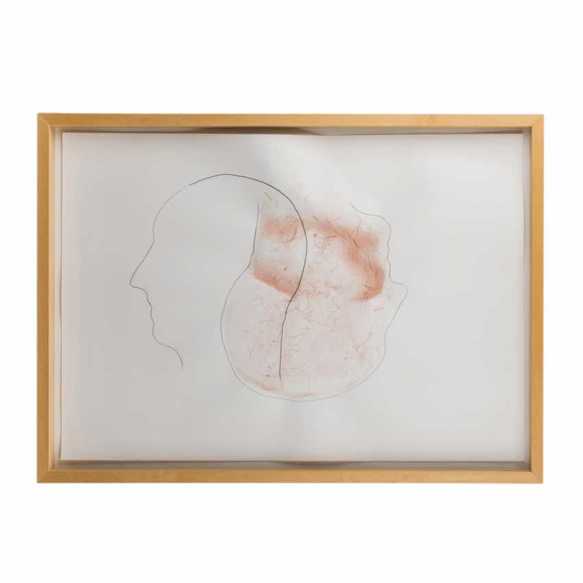 """Commander-in-chief Pointner, ALFRED (geb. In 1966, Austrian artists), """"Two heads"""", - photo 2"""