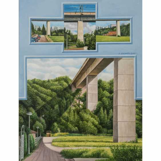 "ENGBARTH, OTTO (geb. 1935), ""Place + Bridge"", - photo 1"