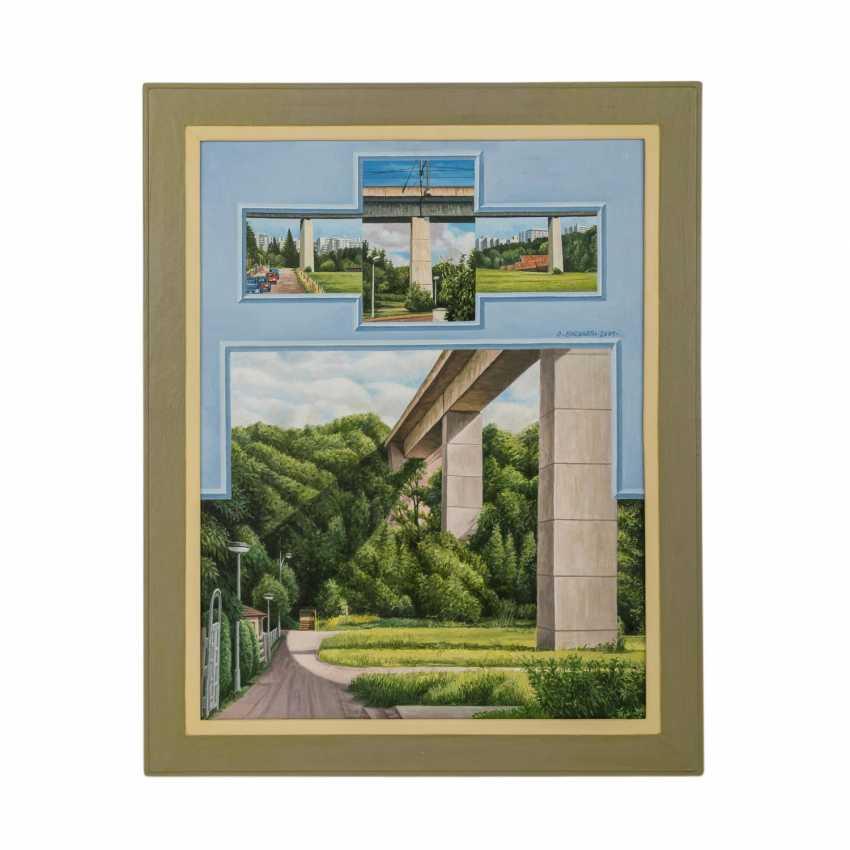 "ENGBARTH, OTTO (geb. 1935), ""Place + Bridge"", - photo 2"