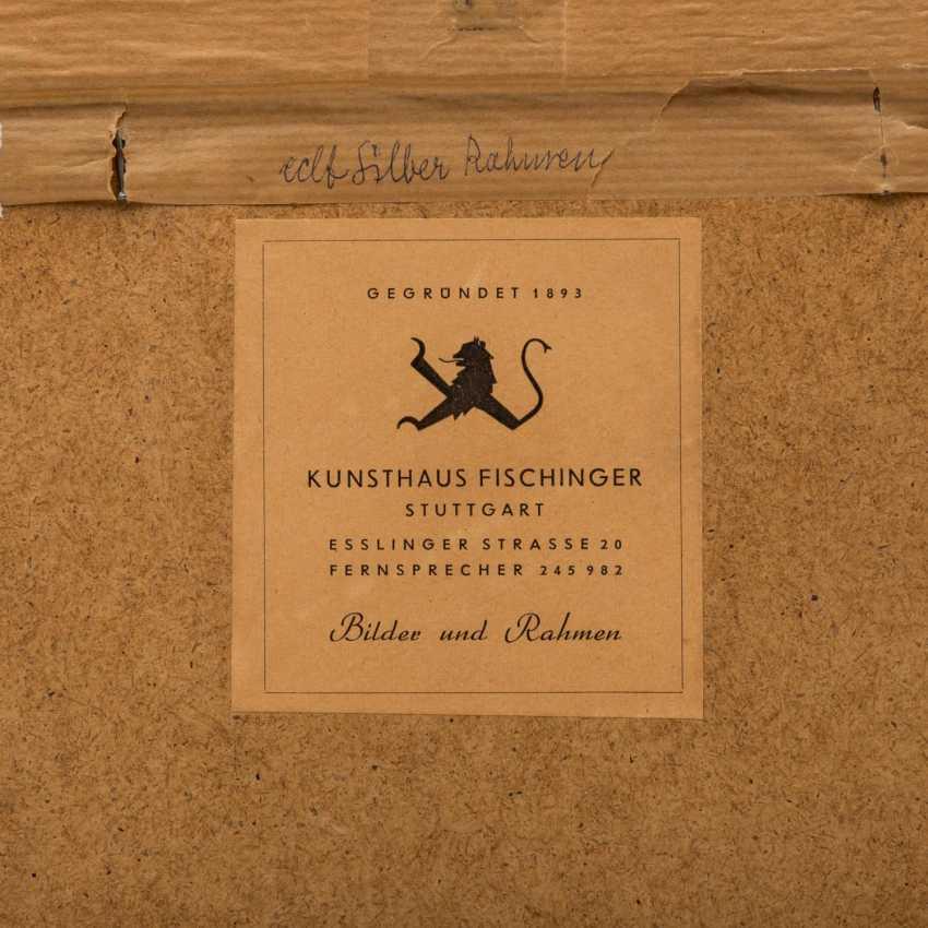 """KIMMICH, Wilhelm, ATTRIBUIERT (1896-1986), """"Frühlingslandschaft mit blühenden Bäumen an einem Weiher"""", - Foto 5"""