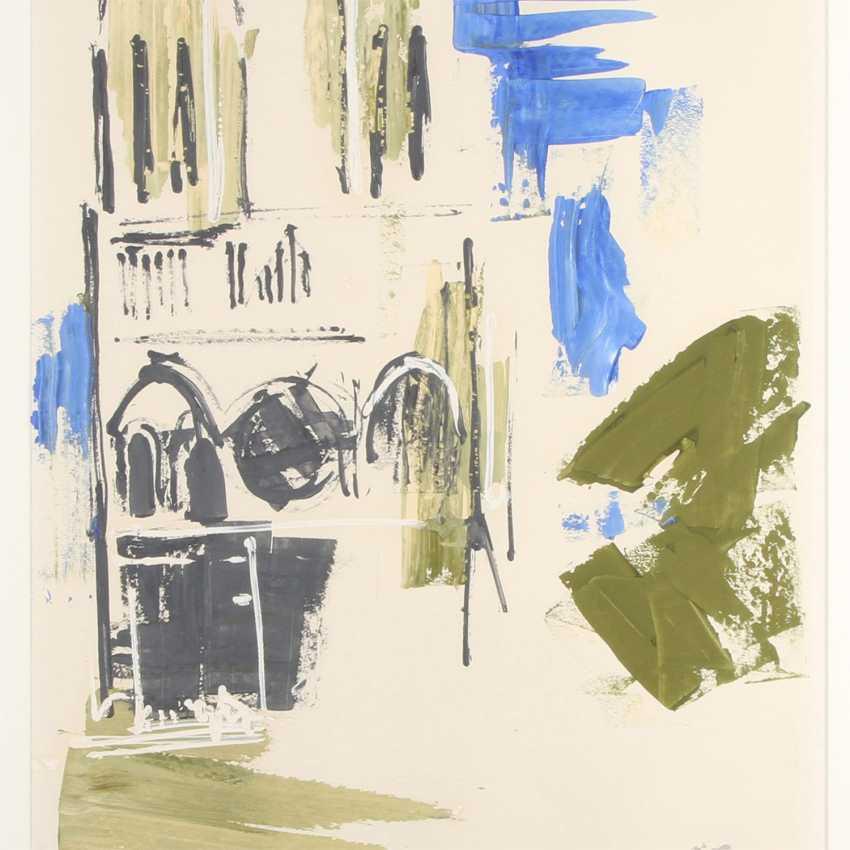 "Raeder scheidt, ANTON (Cologne, 1892-1970), ""Paris, Notre Dame"", 1955, - photo 1"