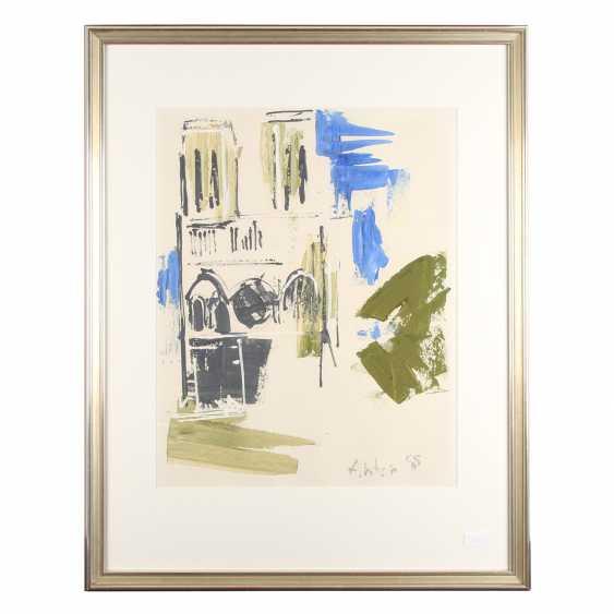 "Raeder scheidt, ANTON (Cologne, 1892-1970), ""Paris, Notre Dame"", 1955, - photo 2"