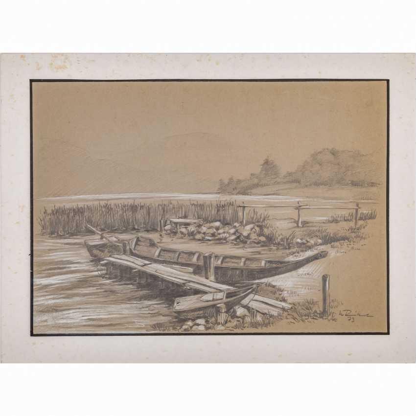 """RINKERT, JO (1922-2014), """"boats on lake"""", - photo 1"""